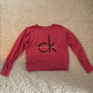 Hot pink Calvin Klein sweat shirt